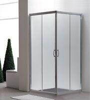 Duschkabine Dusche Duschabtrennung Schiebetür Eckeinstieg Eckdusche Glas 80x80