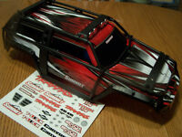 Traxxas 1/10 Summit 5607 Red Black White Factory Painted Body w/ ExoCage Decals