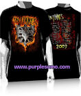IN FLAMES:Shield Flames:T-shirt:NEW:LARGE ONLY