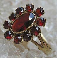 Antikringe Granatringe in aus Gold Ring Antik Ring mit Granat Ring Granatschmuck