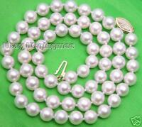 AAA 6.5MM SALTWATER PEARL NECKLACE & 14K GOLD CLasp