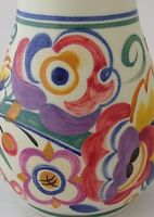 Stunning Early Poole Pottery Vase Decorated By Edith Jeffery - 1930's Art Deco