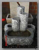 Springbrunnen mit drei Säulen aus Granit, 60x45x55cm, NEU!!!