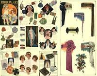 Millinery Flapper Era Hat Ribbon Work  DIY CD Book 1925