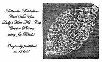 1860 Antebellum Civil War Crochet Beaded Hair Net Pattern Reenactment Hairnet