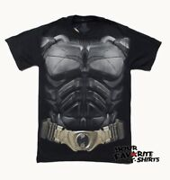 Batman The Dark Knight Rises Movie Costume Armor Licensed Adult Shirt S-3XL