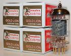 Matched Quads Genalex Gold Lion 12AX7 / ECC83 / B759 tubes, Brand New