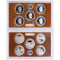 2017 S Parks Quarter ATB Proof Set Gem DCam No Box or COA 5 Coin CN-Clad US Mint