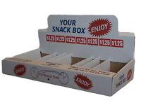 White Snack Box Vending 25 boxes per case