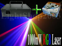 1000mW 1W RGB Animation & Beam Laser Light Show + ILDA software Interface Ishow