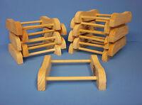 12 U-Stain Saddle Wooden Decoy Stands/ Mason,Pratt collectable decoys