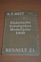 Werkstatthandbuch RENAULT 21 Elektrische Schaltpläne Modelljahr 1990