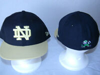 Notre Dame Fighting Irish NEW ERA 59Fifty Fitted Hat 7 1/8 Logo Football Cap