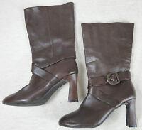 Tolle Lederstiefel Stiefel Schuhe Leder braun Gr. 38 ca 5 Top !!!