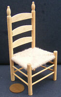 1:12 Scale Natural Finish Rush Seat Kitchen Chair Dolls House Miniature 092