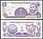 NICARAGUA 1 CENTAVO ND 1991 P 167 UNC