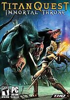 Titan Quest Immortal Throne Expansion Pack - PC NEW/FACTORY SEALED.