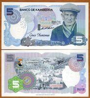 Kamberra, Kingdom, 5 Numismas, 2012, UNC > Old Spaniard
