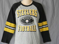 NEW Pittsburgh Steelers NFL Football Long Sleeve T-Shirt Jersey Top Boys Size XL