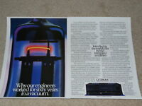 Luxman LV-105, LV-103 Tube Amplifier Ad, 1986, 2 pg