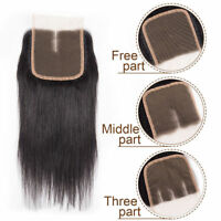 Virgin Remy 7A Brazilian Lace Closure Straight Human Hair Swiss Lace Lace Front
