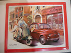 PLAQUE METAL collection FIAT 500 SCOOTER VESPA DOLCE VITA TIN SIGN collector
