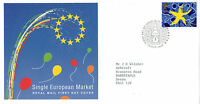 13 OCTOBER 1992 SINGLE EUROPEAN MARKET ROYAL MAIL FIRST DAY COVER WESTMINSTER (a