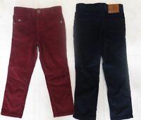 Boys designer trouser corduroy age 4 5 6 7 8 9 10 11 12 years NEW navy burgundy