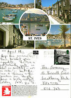 1990's MULTI VIEWS OF St IVES CORNWALL COLOUR POSTCARD