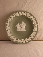 Wedgwood green jasper ware round pin dish