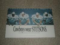 """DALLAS COWBOYS """"STETSONS"""" 20X30 POSTER PRINT"""