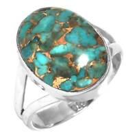 Blue Green Kyanite Women Jewelry 925 Sterling Silver Ring Size Q LO25811