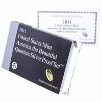 Empty Packaging Replacement Silver Proof Quarter Set Box & COA No Coins 2011