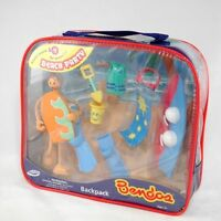 NEW! BENDOS BEACH PARTY CHILDS BENDABLE POSEABLE TOY GIFT SURFER SET