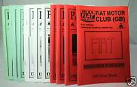 Parliamo - Fiat Motor Club (GB) Magazine -1995 Full Set