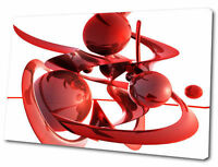 ABSTRACT ART CANVAS RED BALLS SPIRALING  S2018