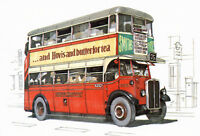 LONDON BUSES of the Pre-War Years - Set of 4 Postcards