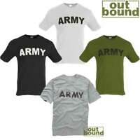 """NEW COMBAT US """"ARMY"""" PRINTED T-SHIRT ALL COLOURS XS-XXL"""
