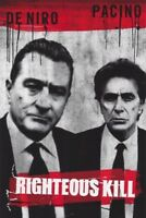 RIGHTEOUS KILL MOVIE POSTER 1 Sided ORIGINAL ADV 27x40