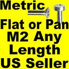 Metric Pan or Flat Head Machine Screws M2 x 3, 4, 5 etc