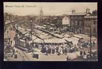 Norfolk GREAT YARMOUTH Market Place Tram PPC