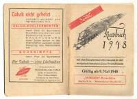 Kursbuch 1948 mit Hauptreiseverbindg sowj besetzte Zone