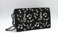 NEW Music Gift Ladies Evening Shoulder Clutch Bag Black