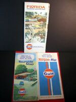 LOT OF 3 VINTAGE GULF OIL ROAD MAPS 1967 -1973