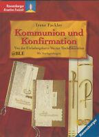 Kommunion und Konfirmation + Einladung + Basteln + Dekoration + Tischkarten +