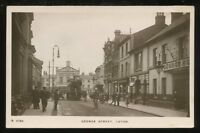 Beds LUTON George St Town Hall Tram RP PPC