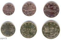 Greece 2005 - Maxi Set of 6 Euro Coins (UNC) **NEW**