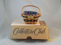Longaberger J W Collection Miniature Berry Basket Combo NIB