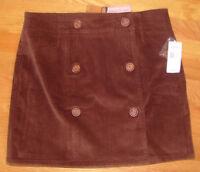 NWT Vineyard Vines Village Skirt Corduroy Pink Brown