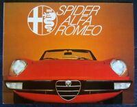 ALFA ROMEO SPIDER 1300/1600/2000 BROCHURE 1977 DUTCH.